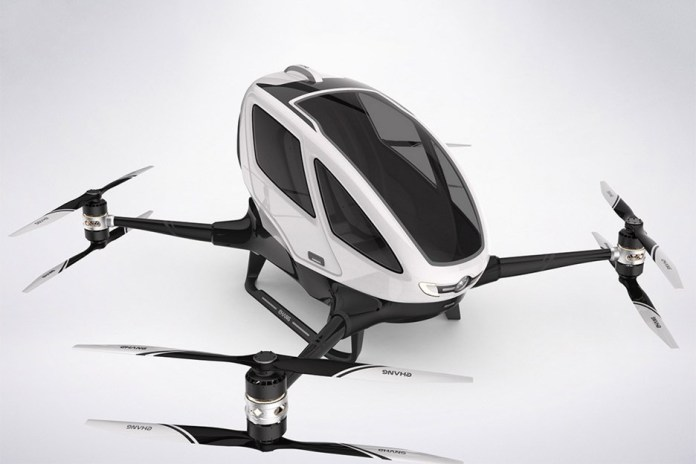 全球第一架載人無人機 Ehang 184 將於今夏在迪拜啟航