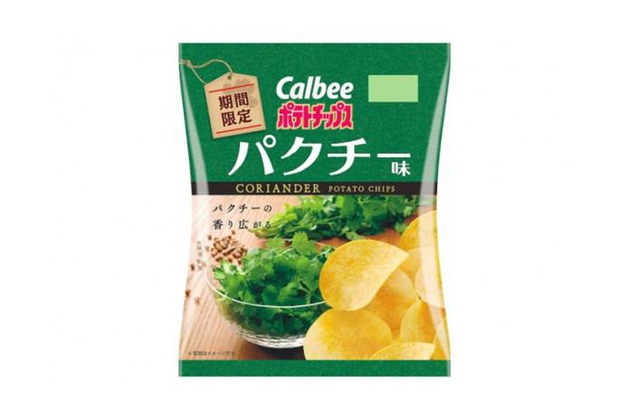 日本 Calbee 推出限定「香菜」味薯片