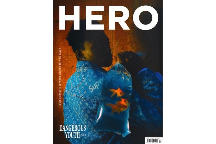 《HERO》最新一期推出 Supreme x Louis Vuitton 特別版封面
