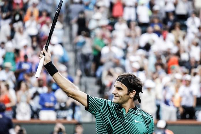 Roger Federer 於 Indian Wells 大師賽完勝 Rafa Nadal