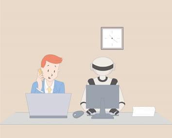 「RPA」とは人間と同じようにロボットが会社の席に座ってお仕事(!?)