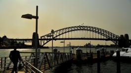 The air quality in Sydney remains at a hazardous level. Picture: AAP