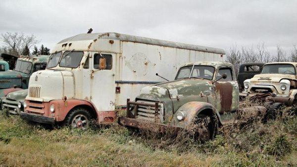 Свалка старых грузовиков и автобусов в Канаде (6 фото ...