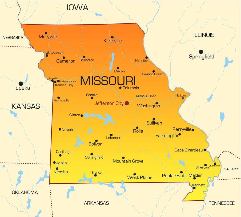 Map Hospitals Missouri