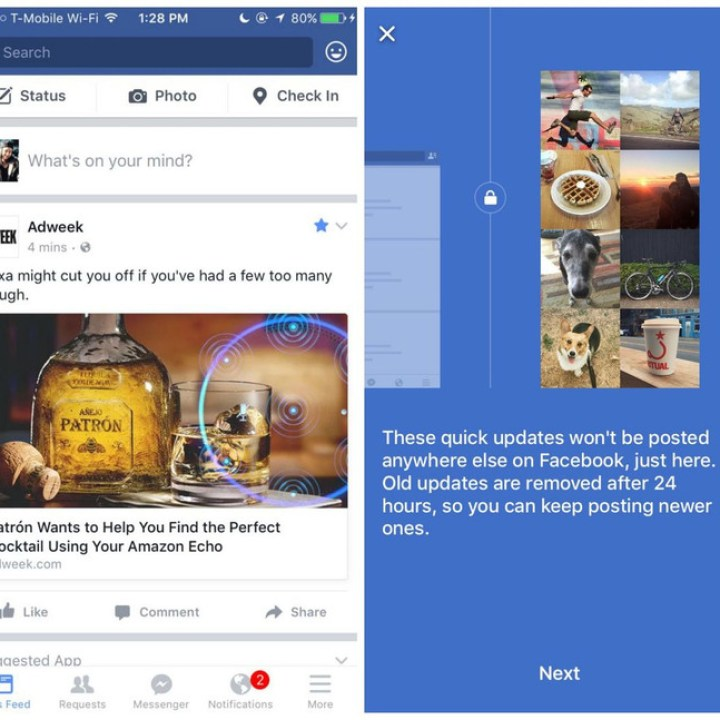 facebook snapchat test messaging