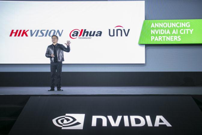 Jen-Hsun Huang announces AI City partners