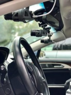 Udacity car equipped to collect sensor and camera data used to train its self-driving car. Image courtesy of Udacity.