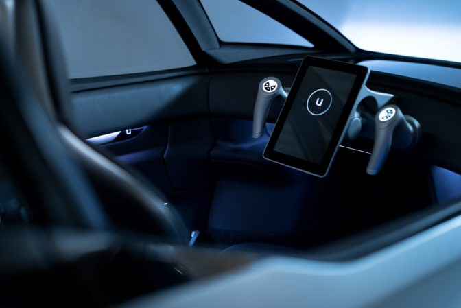 Inside the cabin of the Uniti One