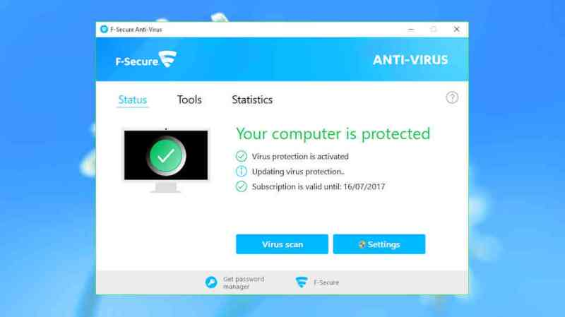 F-Secure Antivirus SAFE is an easy to use, good value option to protect your PC
