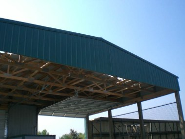 Yard side of guard canopy