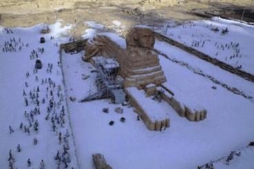 Sphinx in Snow