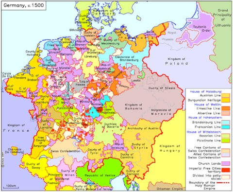 Holy Roman Empire Map