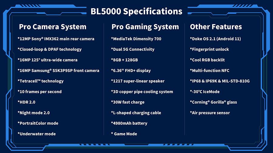BL5000 specs