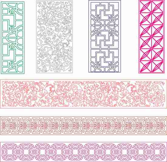 7 patterns dxf for cnc free