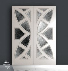 Door Butterfly Design DWG File