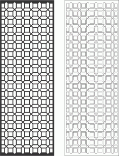 Geometric Decorative Grille Free Vector