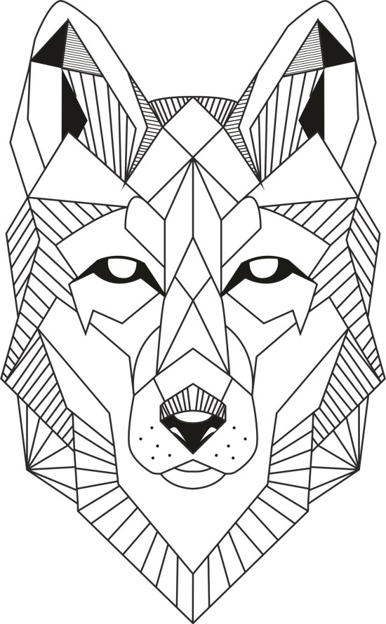 Wolf Lineart Free Vector