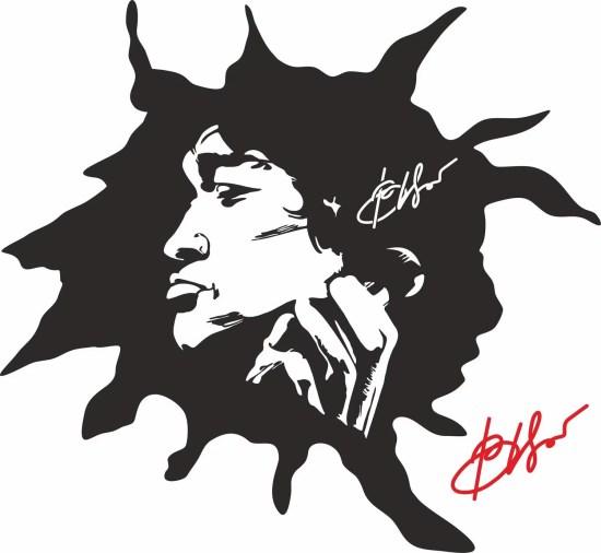 Viktor Tsoi Stencil Sticker Wall Art Free Vector