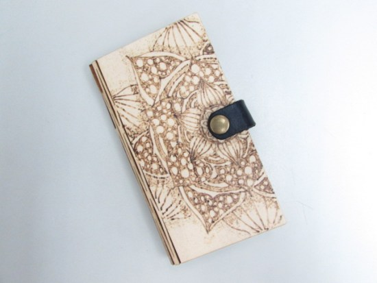 Laser Cut Wooden Phone Cover DXF File
