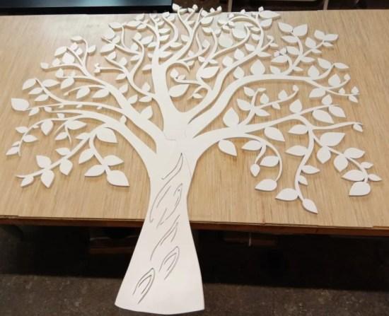 Laser Cut Tree Wall Decor Template Free Vector