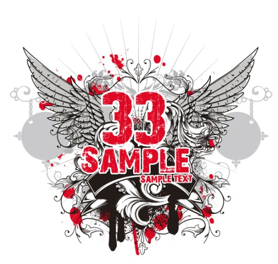 Stickers On The Shirts Free Vector
