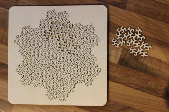 Laser Cut Fractal Puzzle SVG File