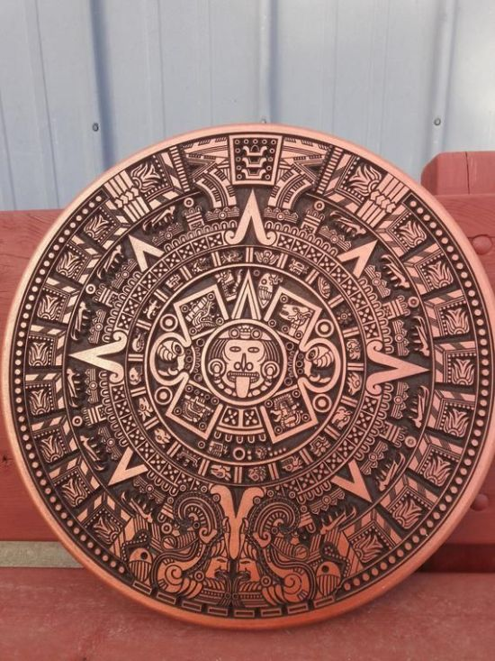 Aztec Calender Laser Cutting Template Free Vector