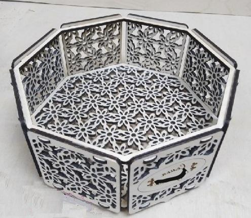 Decorative Octagon Candy Box Laser Cutting Template Free Vector