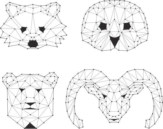 Animals Polygons Vectors Free Vector