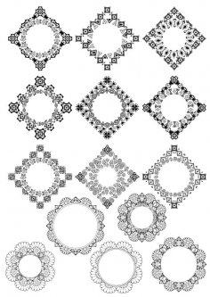 Abstract Border Design Vector Set Free Vector