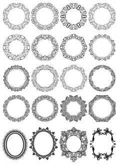 Circle Floral Borders Free Vector