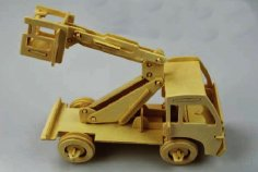 Lift Truck Laser Cut Model PDF File