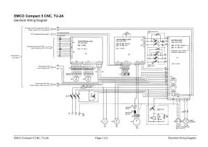 EMCO Compact 5 CNC Electrical Wiring Diagram pdf  CNC Manual