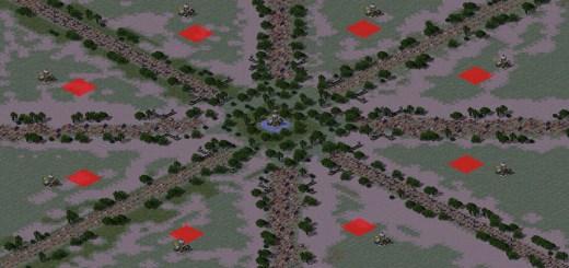 Red Alert 2 map Boggle04 oil in center