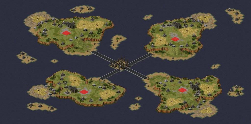 red alert 2 map TSUMANI many oil