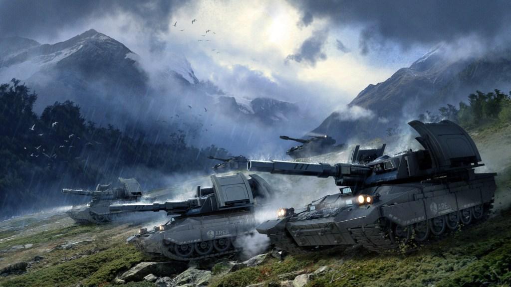 Mirage attack by Hongqi Zhan - Red Alert 2 art