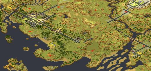Red Alert 2 map Landscape Operations