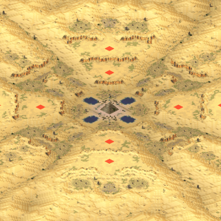 Red Alert 2 map Valley of the Exiles
