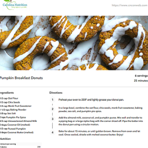 Clean Eating Breakfast Recipes eBook Pumpkin Breakfast doughnuts