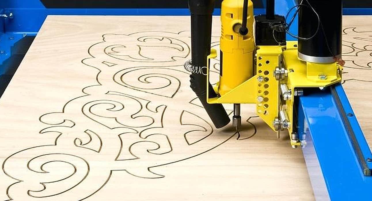 CNC Plasma Cutters PlasmaCam engraving on wooden sheet
