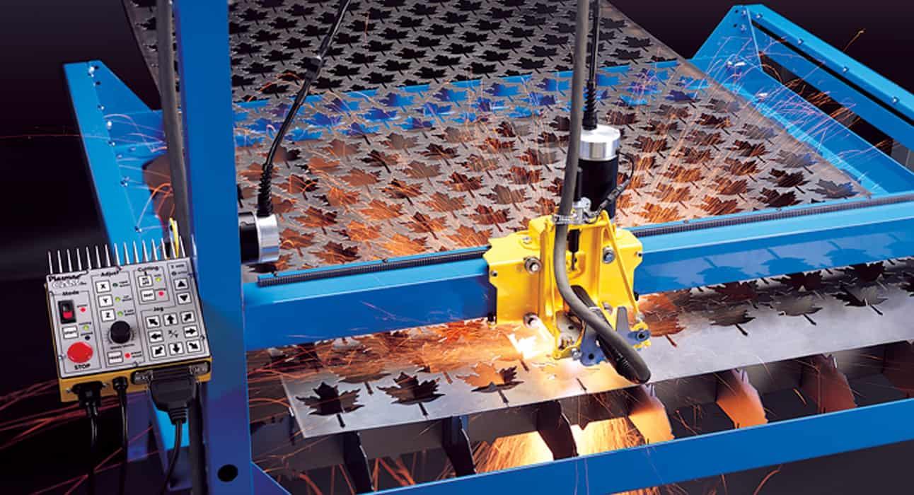 CNC Plasma Cutters PlasmaCam cutting shapes in array