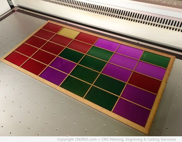 custom-jig-1 Anodized Aluminium Business Cards Fiber Laser Marking
