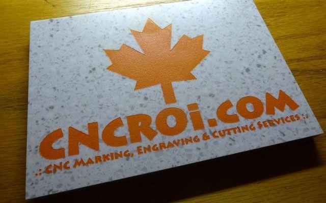 corian-1 CNC Laser Engraving & Paint Filling Corian