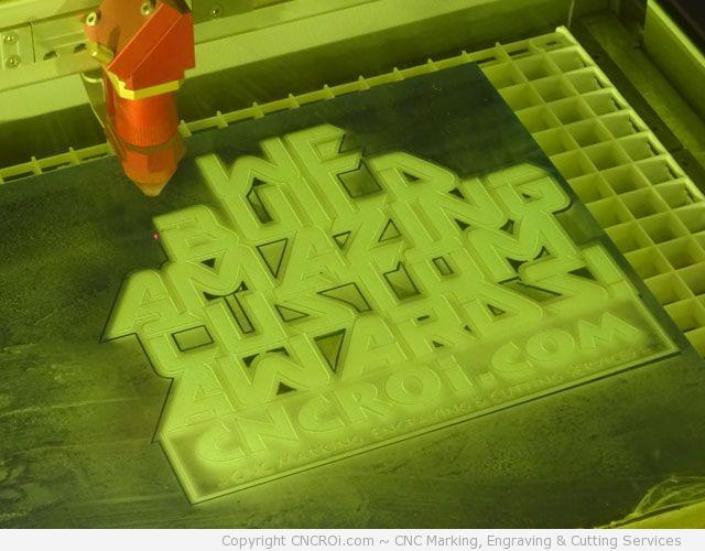 trophy2 CNC Laser Engraving & Cutting 6 mm Custom Acrylic Award