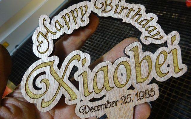 Amazing Cnc Laser Engraving And Cutting Custom Birthday Cake Toppers Personalised Birthday Cards Veneteletsinfo