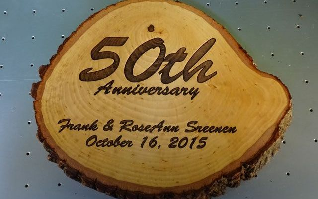 cnc-laser-wood-log-xx1 CNC Laser Engraving A 50th Anniversary Log