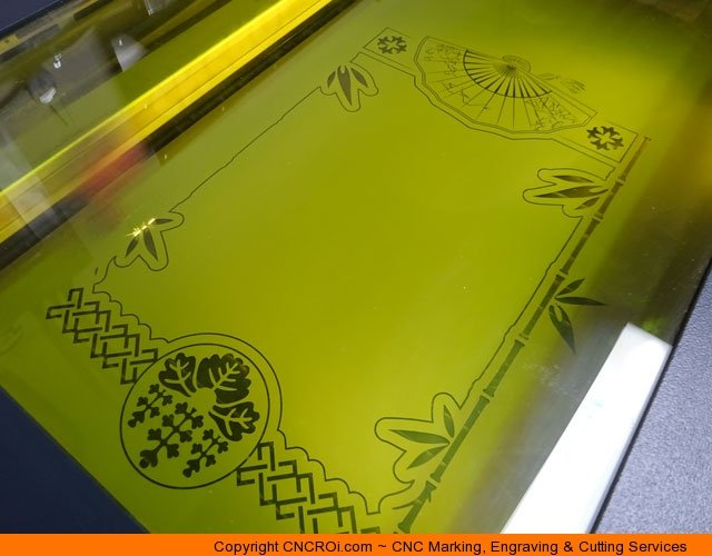 custom-cnc-mirror-1 CNC Laser Engraving & Cutting A Custom Paint Filled Mirror