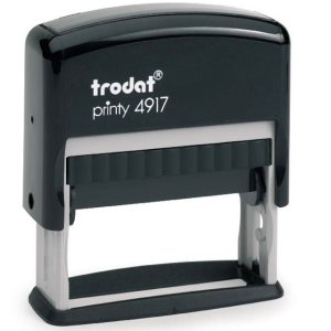 "PR_4917 Trodat Original Printy 4917 Custom Self-Inking Stamp (10 x 50 mm or 3/8 x 2"")"