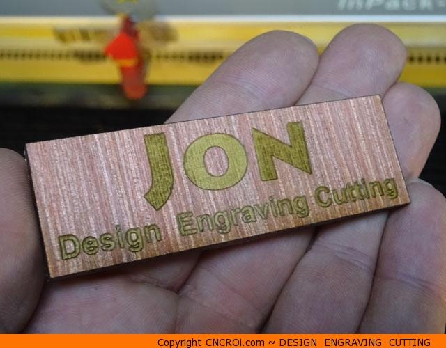 plywood-badge-1 Laser Engraving & Cutting Custom Plywood Name Badges