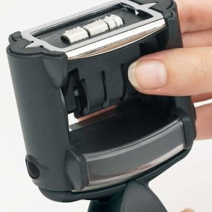 "trodat-5430b-1 Trodat Professional 5430/L Custom Self-Inking Stamp (24 x 41 mm or 1 x 1-5/8"" with stock text)"
